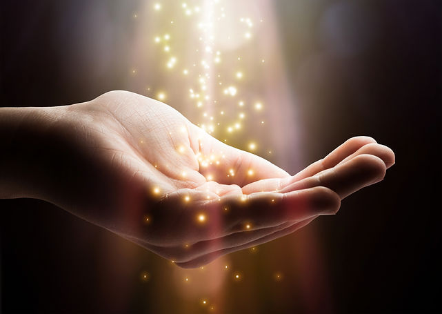 Stardust and magic in your hands. Magic