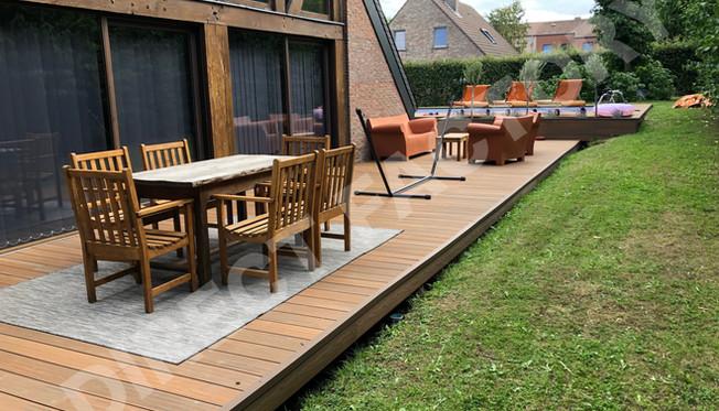 Terrasse Co-extrudée teck exotique 2