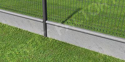 Poteaux, Poteau, clotures, Clôture rigide, panneau de clôture rigide, jardin, aménagement extérieur, galvanisation, akzno nobel, soubassement béton, béton