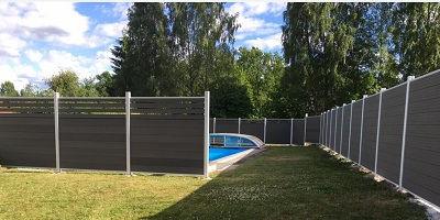 Palissade bois composite, boi composite, claustra, séparation de jardin, terrasse, haut de gamme, aluminim