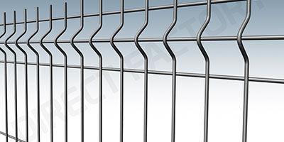 Clôture rigide, panneau de clôture rigide, jardin, aménagement extérieur, galvanisation, akzno nobel