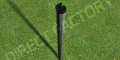Poteaux, Poteau, clotures, Clôture rigide, panneau de clôture rigide, jardin, aménagement extérieur, galvanisation, akzno nobel