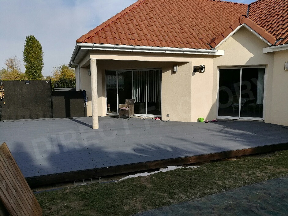 Terrasse Co-extrudée gris ardoise