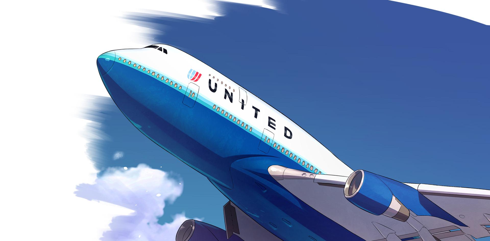 United 飛行機