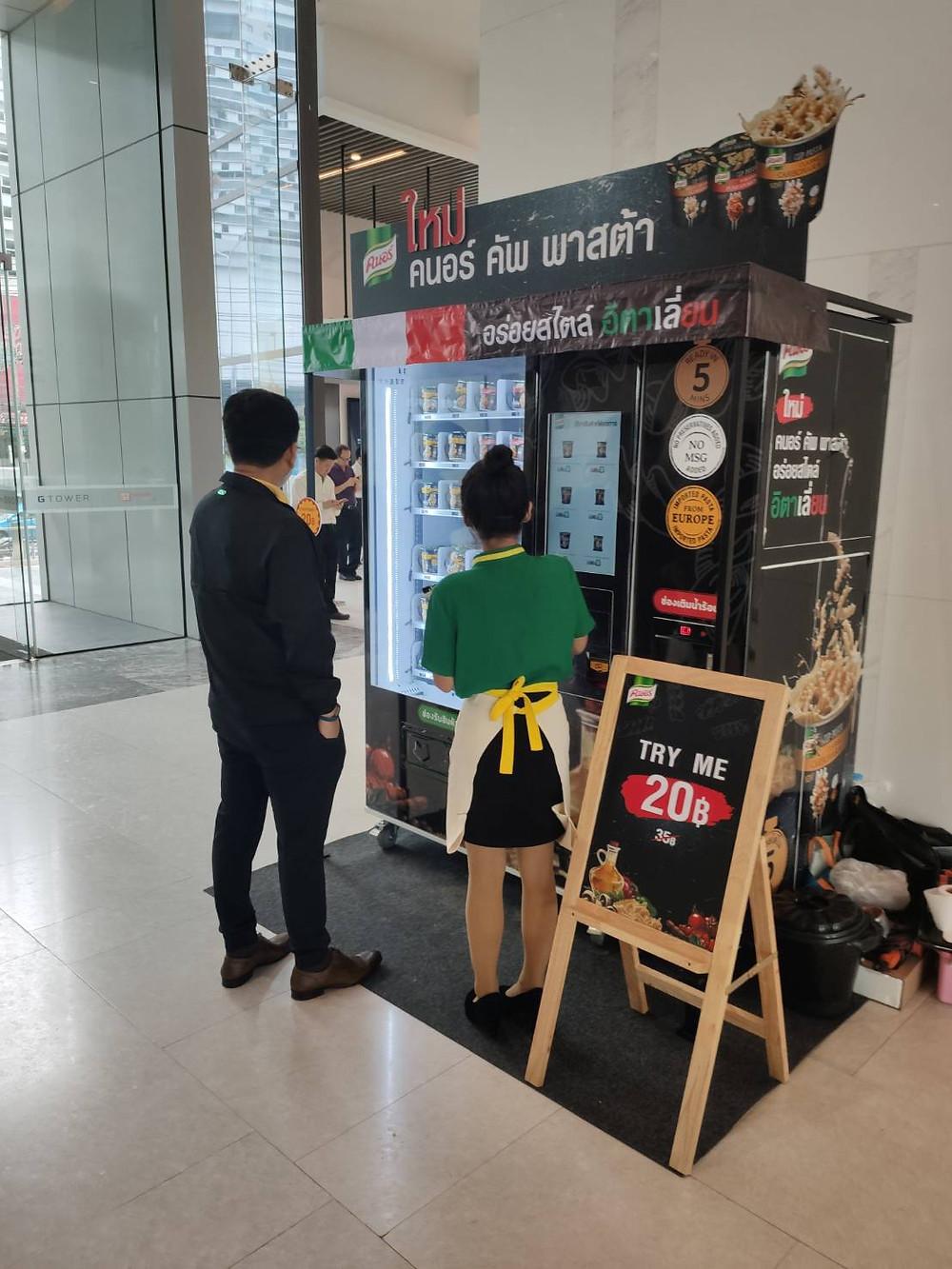 Knorr cup pasta vending machine