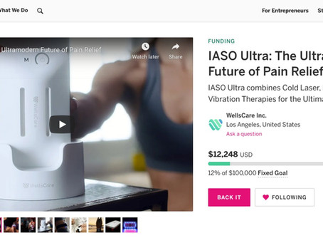 IASO Ultra Wraps Up Successful First Week on Indiegogo!