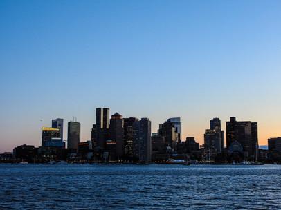 Boston Skyline Sunset - DeaneHD Wallpaper