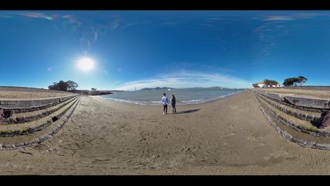 360 Bay Beach Sunshine Sky - DeaneHD Wallpaper