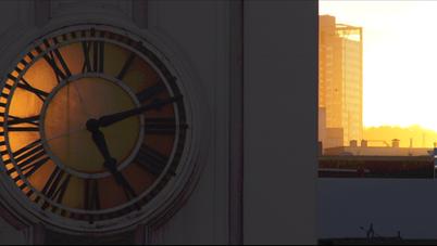 Golden Hour Clock - DeaneHD Wallpaper