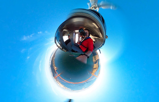 360 Tiny Planet Helicopter - DeaneHD Wallpaper