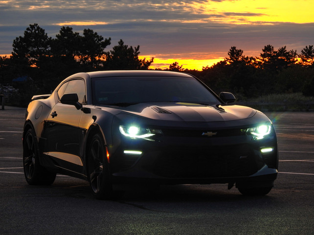 Camaro SS Sunset Front - DeaneHD Wallpaper