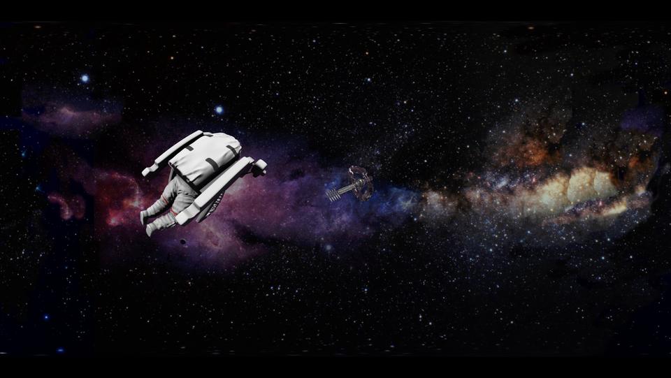 360 Astronaut in Space - DeaneHD Wallpaper