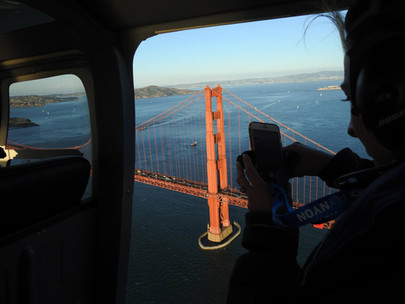 Helicopter Golden Gate Brige - DeaneHD Wallpaper