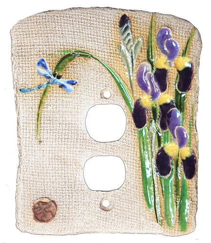 Purple Iris - Electrical Outlet
