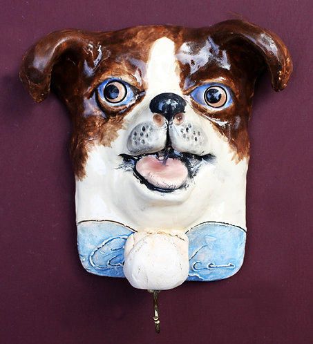 Brown and White Chihuahua Leash Holder