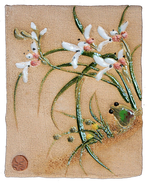 White Chinese Orchid - Wall Tile