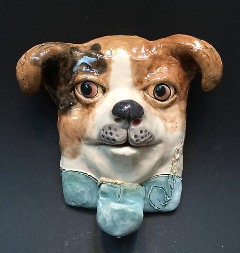 Black and Brown Chihuahua Leash Hanger