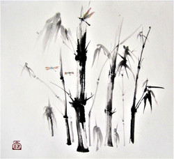 Bamboo and Dragonflies