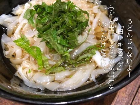 mentsuyu bukakke with white wood ear
