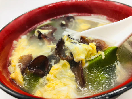 wakame egg soup with wood ear