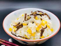 白黑木耳玉米饭