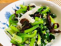 白黒きくらげと小松菜のお浸し