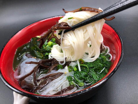 black and white wood ear in somen soup