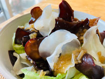 simple white wood ear and lettuce salad