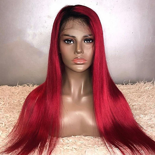 1b/red Full Lace wig