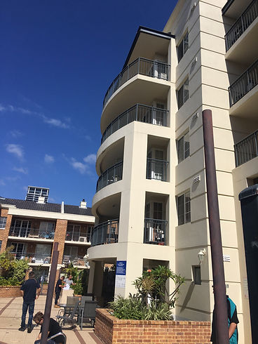 Conspar rising damp treatment and restoration works at an apartment building complex, Subiaco (Perth)