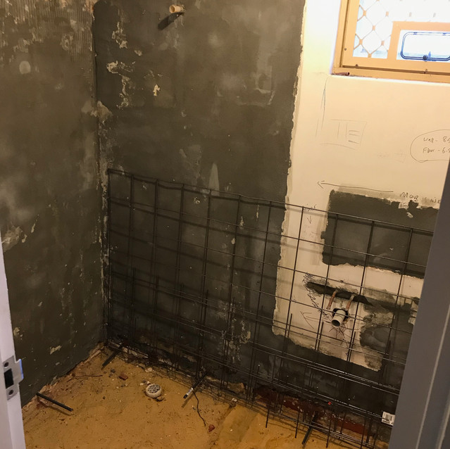 The Beginning of Bathroom Repairs to Stop Water Ingress (Wembley)