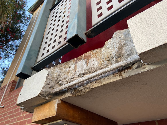 Conspar concrete cancer treatment and replacement of corroded structural steel posts at this residential townhouse complex in Rivervale, Perth