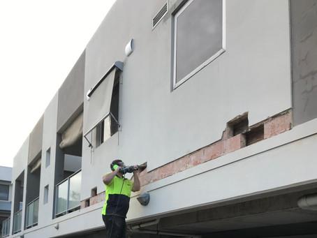 Northbridge residential building restoration works to stop water ingress