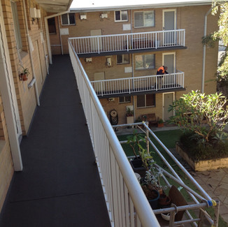 Conspar Concrete Cancer Treatment, balustrade restoration and Protective Floor Coating Install (Perth)