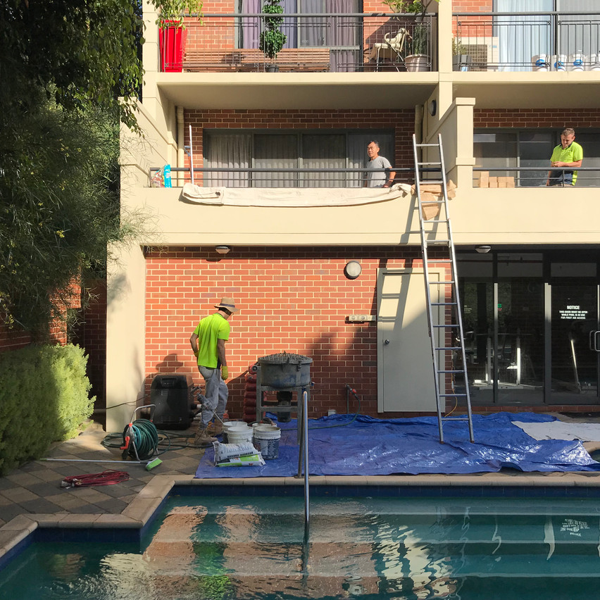 Conspar work to treat water ingress at this residential strata property in Highgate (Perth). The work has involved waterproofing the balconies and planter boxes.