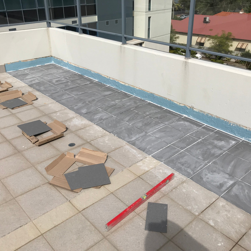 Conspar waterproofing works at this block of offices in South Perth.