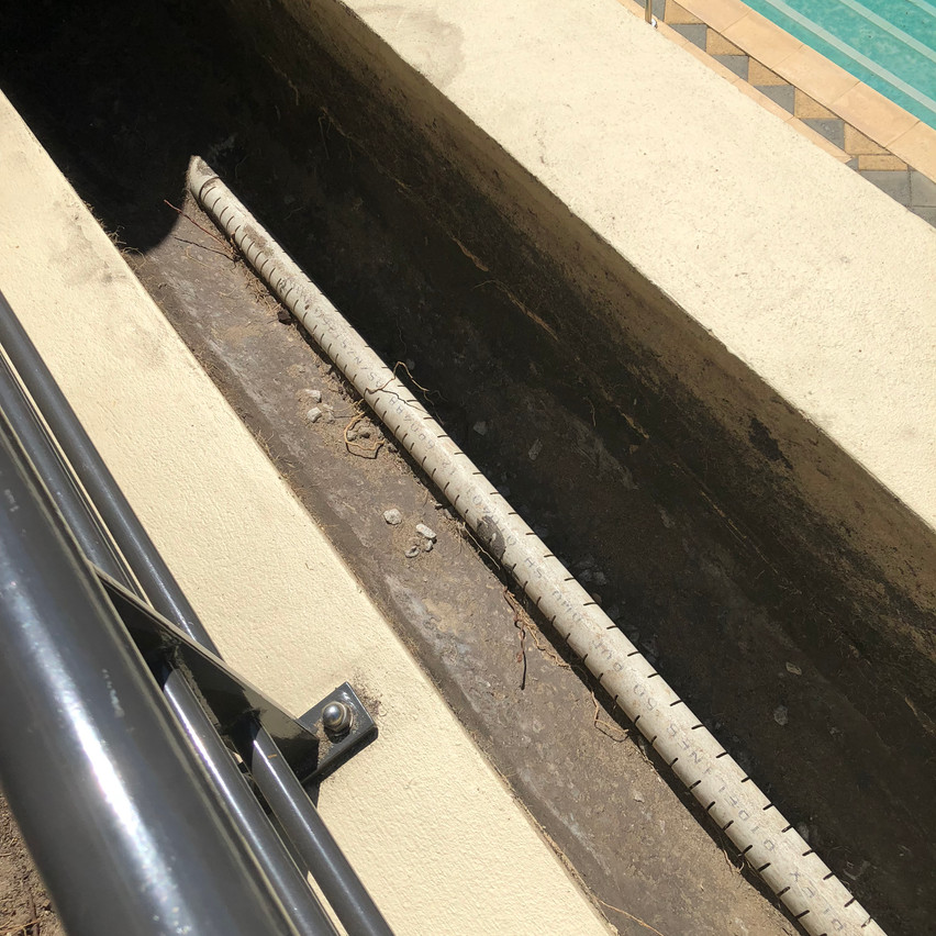 After removing the contents of the planter boxes at this apartment complex (Highgate, Perth) in order to install the waterproofing the old drainage system was exposed.
