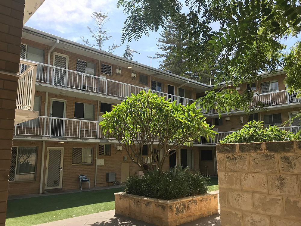 Conspar building repairs commence to this Cottesloe residential unit complex
