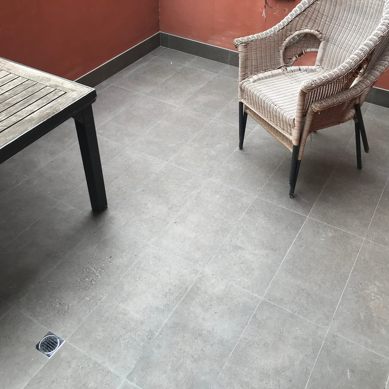 Conspar waterproofing and tiling works at this Northbridge apartment in Perth. The works involved removing the original tiles and screed, installing new screed and adequate falls, tiles and ensuring functioning drainage systems to prevent pooling.