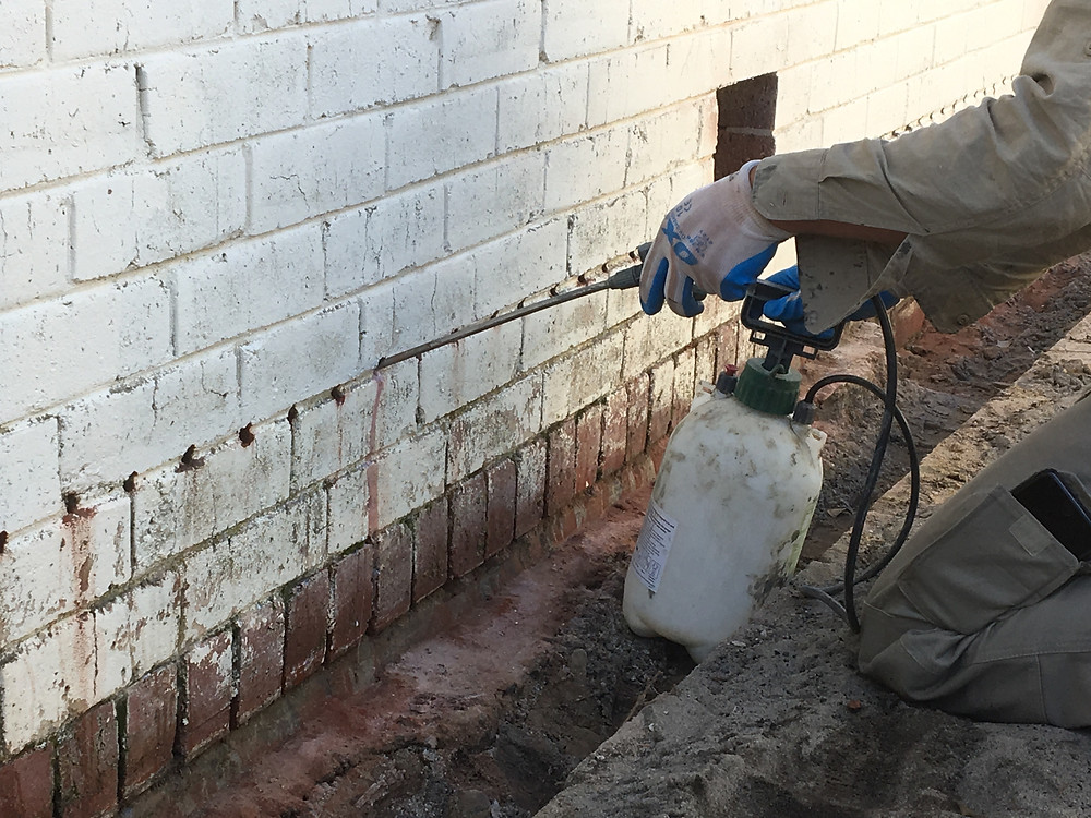 Conspar rising damp treatment at this Wembley residence