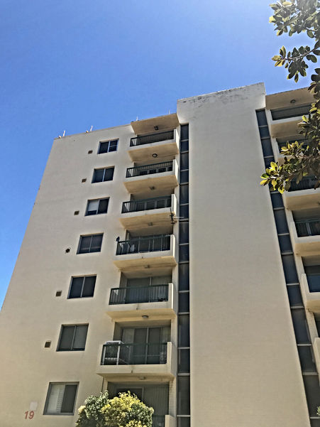 Conspar carried out several works to stop water leaks and repair associated damage at this residential high-rise building in Cottesloe, Perth