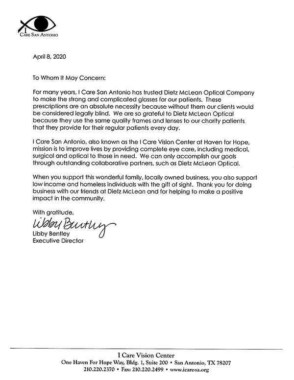 Dietz McLean letter of support I Care.pn