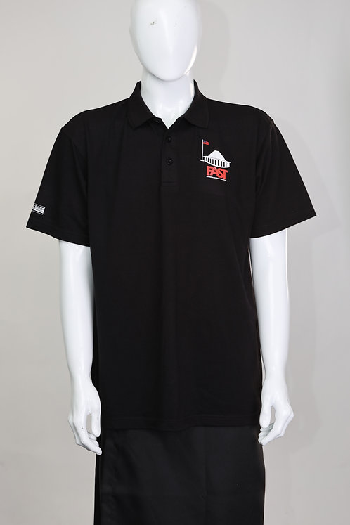 FAST Party Black Polo Shirt