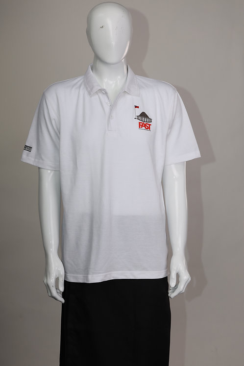 FAST Party White Polo Shirt