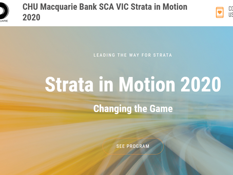 CHU, Macquarie Bank, SCA (Vic) Strata in Motion 2020
