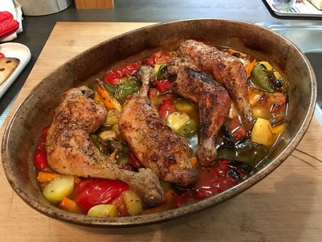 Cuisses de poulet fermier aux légumes (pour 4 pers.) 49€