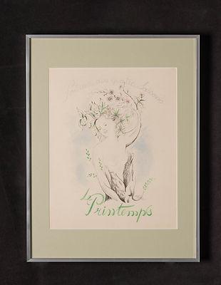 Le printemps (dessin à la plume et gouac