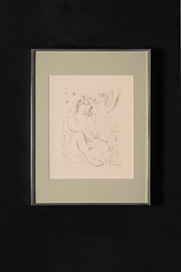 Jeune fille avec l'ange (gravure) 天使と少女(版画)