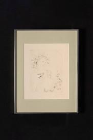Jeune fille au chardonnet (gravure) 少女(版画)