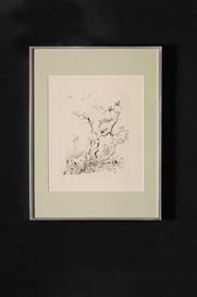Les oiseaux (gravure) 小鳥たち(版画)